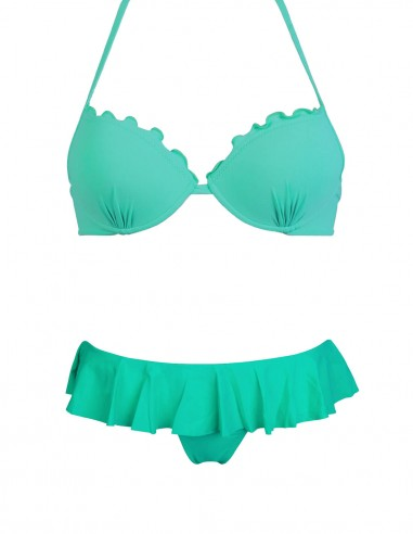 Bikini frou frou tiffany composto da super push up e slip o brasiliana con volant