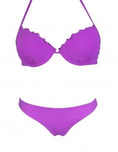 Bikini frou frou petunia composto da super push up e brasiliana senza cuciture beatriz