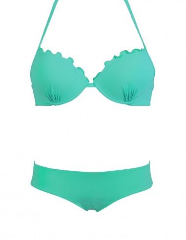 Bikini frou frou tifffany composto da super push up e coulottina brasiliana Hiris