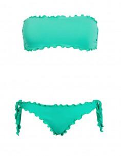 Bikini frou frou tiffany composto da fascia  e slip o brasiliana con lacci