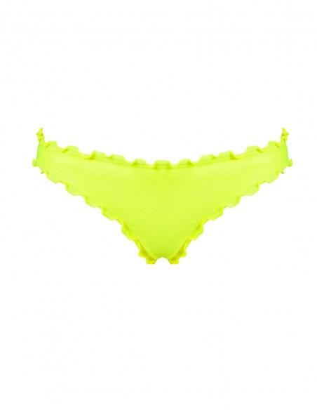 Slip frou frou Giada o brasiliana frou frou Antigua senza lacci colore giallo fluo
