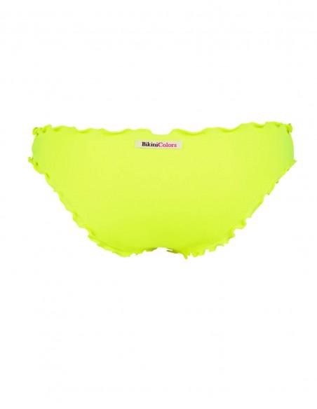 Retro dello slip frou frou Giada senza lacci giallo fluo