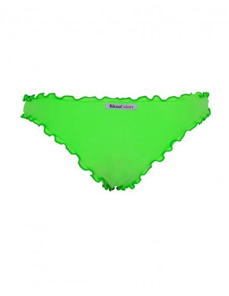 Retro dello slip frou frou Giada senza lacci verde fluo