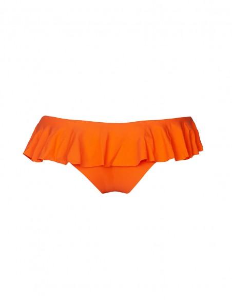 Retro della brasiliana con volant Rodi colore arancio