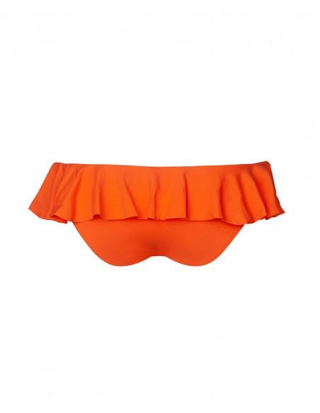 Retro dello slip con volant Miami colore arancio