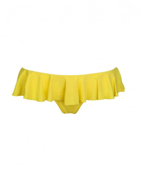 Slip o brasilana con volant colore giallo