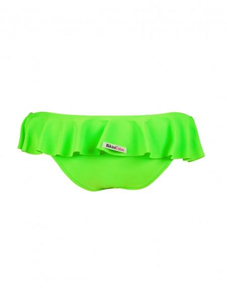 Retro dello slip con volant Miami colore verde fluo