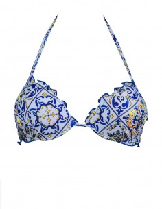 Reggiseno super push up frou frou fantasia Amalfi