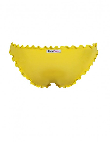 Retro dello slip frou frou Giada senza lacci giallo