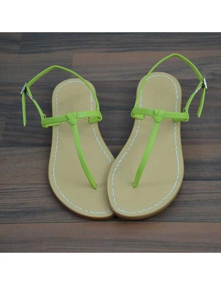 Sandali capresi Aurora colore verde acido