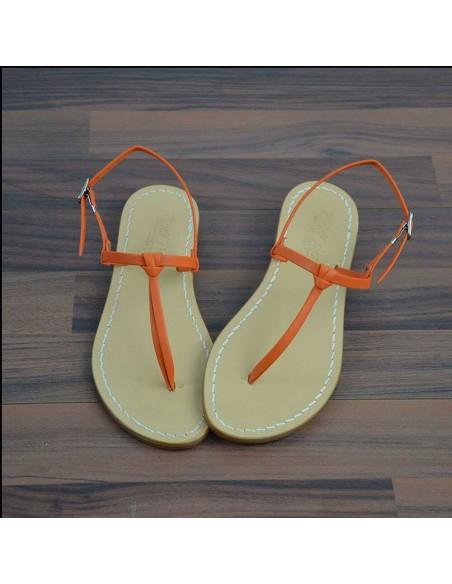 Sandali capresi Aurora colore arancio