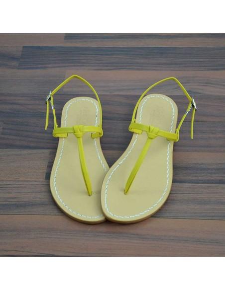 Sandali capresi Aurora colore giallo senape