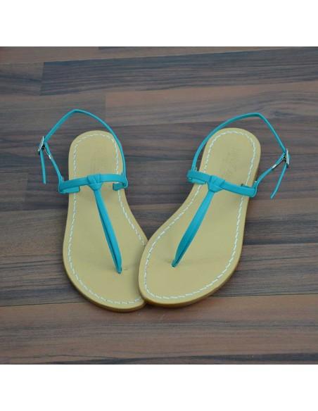 Sandali capresi Aurora colore tiffany