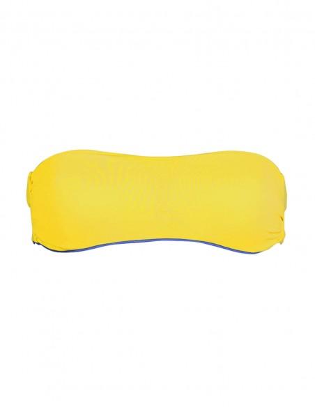 Fascia double face giallo e blue oltremare