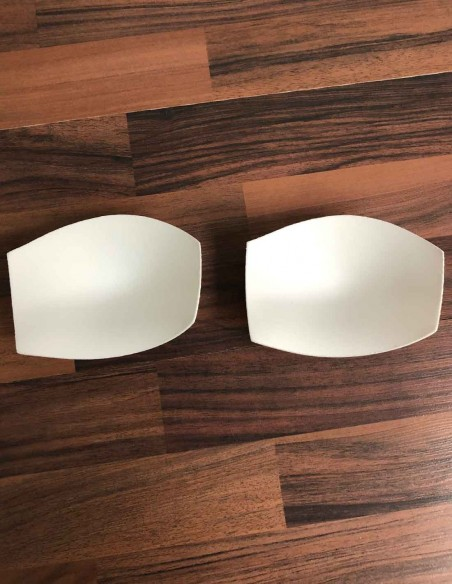 Interno delle coppe bianche imbottite colore bianco