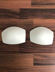 Coppe bianche imbottite colore bianco
