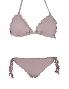 Bikini frou frou fango composto da triangolo frou frou e slip o brasiliana con lacci