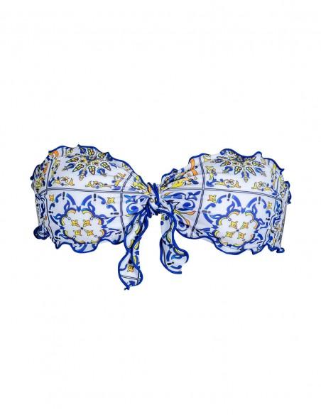 Fascia frou frou con fiocco fantasia Amalfi