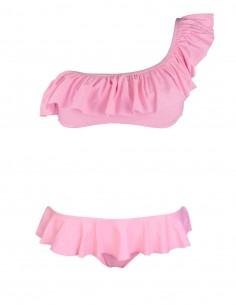 Monospalla volant con slip o brasiliana volant fantasia fenicottieri colore rosa