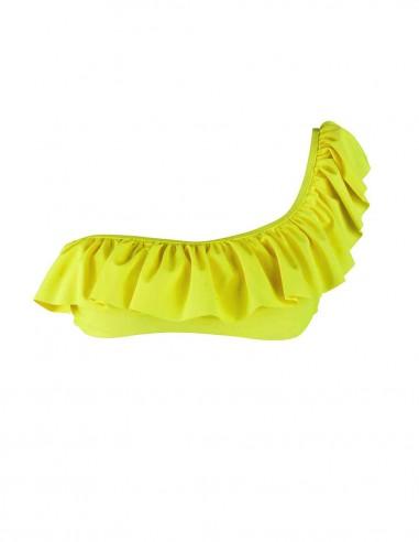 Fascia monospalla volant giallo fluo