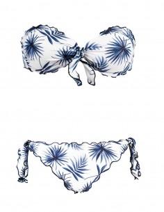 Bikini frou frou Palme omposto da fascia e slip o brasiliana con lacci