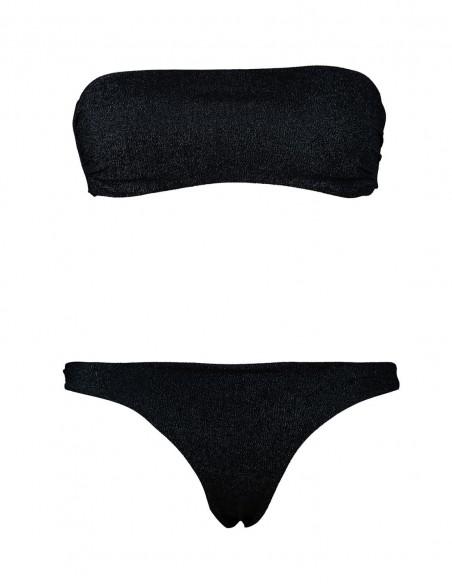 Bikini tessuto lame' fascia con brasiliana beatriz