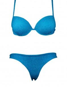 Bikini tessuto lame' push up con brasiliana beatriz