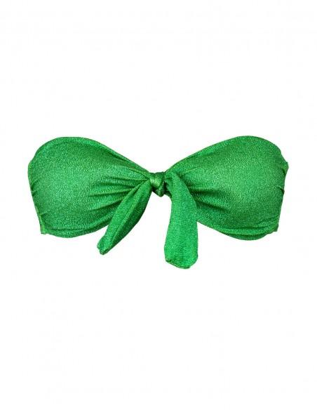 Fascia lame' verde smeraldo