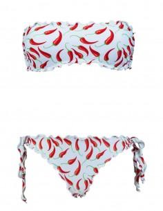 Bikini fascia frou frou con...