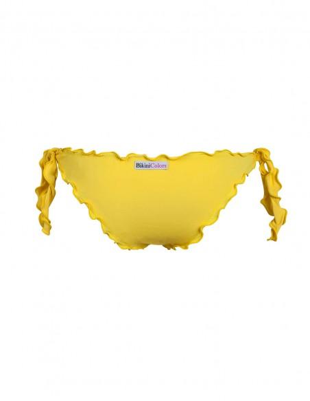 Retro dello slip frou frou con lacci giallo