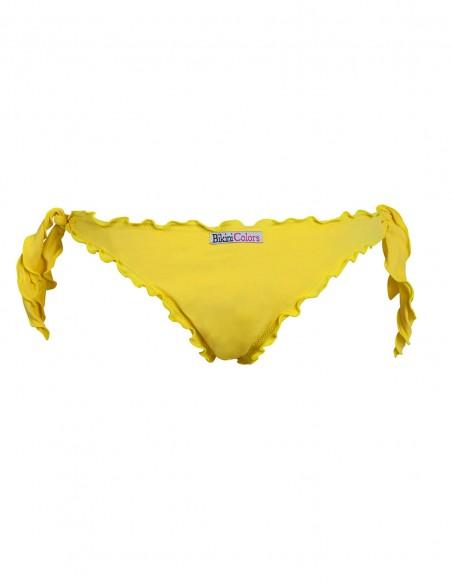 Retro della brasiliana frou frou con lacci giallo