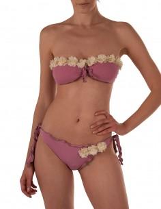 Bikini fiori fascia frou...
