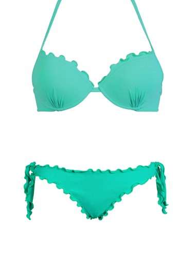 Bikini frou frou tiffany composto da reggiseno super push up e slip o brasiliana con lacci